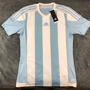 Adidas Striped White/Blue Jersey